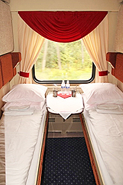 Grand Trans-Siberian Private train: Standard Plus train compartment