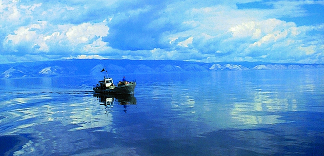 Lake Baikal, Siberia: world's deepest and the largest fresh water reservoir in the world