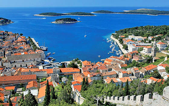 Croatian Island of Hvar, on the Adriatic coast