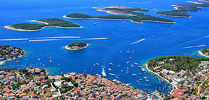 Town Hvar, Birds View