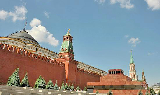 Red Square, Kremlin Wall and Lenin Mausoleum, Moscow Russia