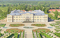 Bird's View of Rundale Palace, Latvia