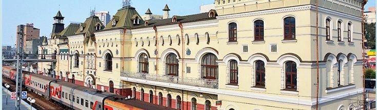 Vladivostok Rail Station, 9288 km away from Moscow