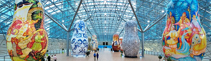 Giant Matryoshka Dolls, Moscow Shopping Mall