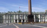 Hermitage Museum facing Palace Square, downtown St. Petersburg