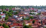Birds View of the Old Town of Vilnius, Lithuania