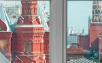 Kremlin view from a Studio room, the National Hotel,downtown Moscow Russia