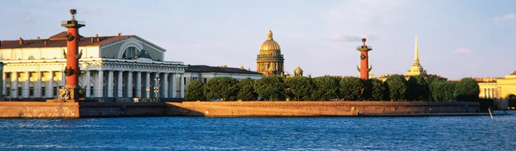 Neva river embankment, St. Petersburg